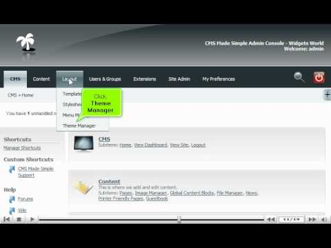 How to import a theme in CMS Made Simple - CMS Tutorials