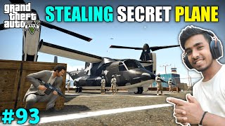 I STOLE SECRET FIGHTER PLANE FROM MILITARY BASE | GTA V GAMEPLAY #93