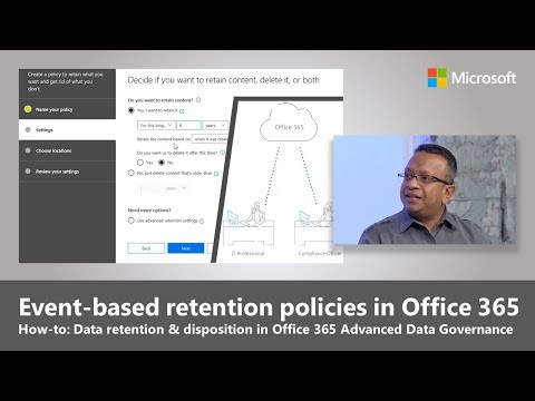 Trigger retention policies with Events in Advanced Data Governance