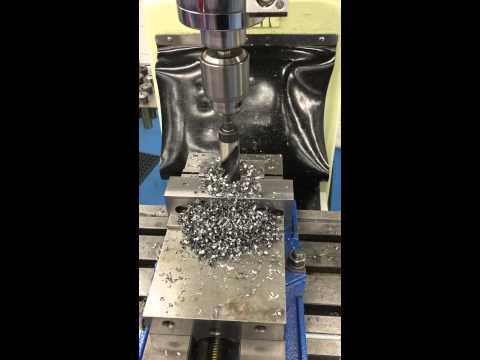 Drilling 1 inch hole for barrel vise