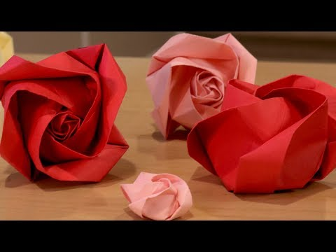 How to Make an Origami Rose