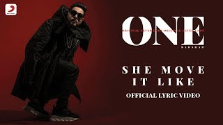 Badshah  She Move It Like  One Album  Lyrics Video