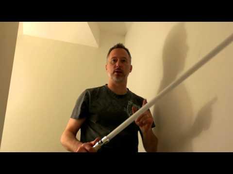 Black Lightsaber Blade Technique