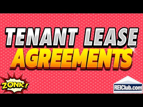 Tenant Lease Agreement - Filling Out Tenant Lease Agreements - REIClub.com