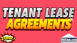 Tenant Lease Agreement Filling Out Tenant Lease Agreements