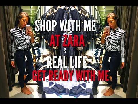 REAL LIFE GET READY WITH ME, COME SHOPPING WITH ME AT ZARA + HEALTHY TACOS - VLOGMAS DAY 17