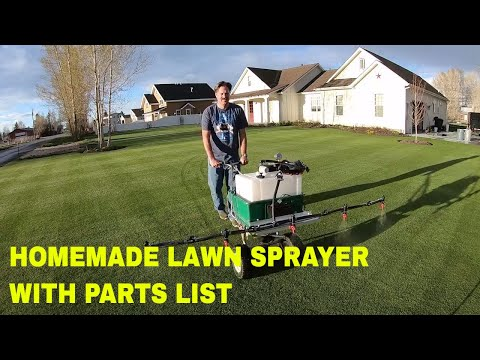 How to build a HOMEMADE LAWN SPRAYER. 5 nozzle boom