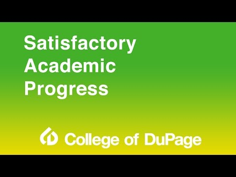 Financial Aid Presentation - Satisfactory Academic Progress