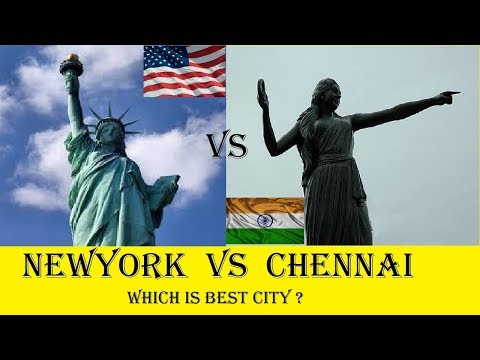 Chennai vs New York | comparison  which is the best city |  similarity of Chennai and New York