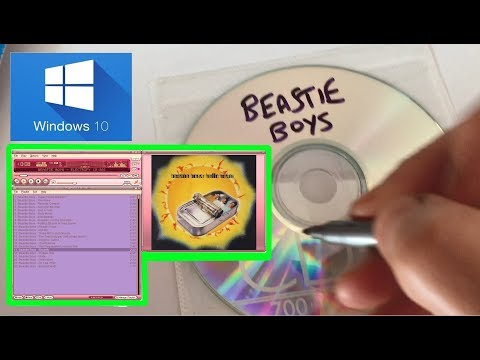 Windows 10 How to create an Audio CD using Winamp - How to Burn an Audio CD