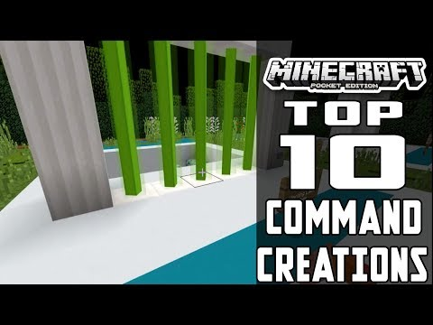 TOP 10 BEST COMMAND BLOCK CREATIONS for Minecraft PE