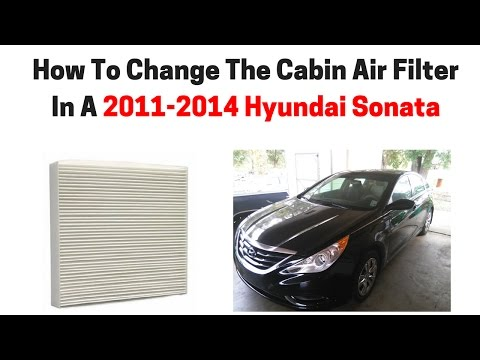 How To Change The Cabin Air Filter In A 2011-2014 Hyundai Sonata