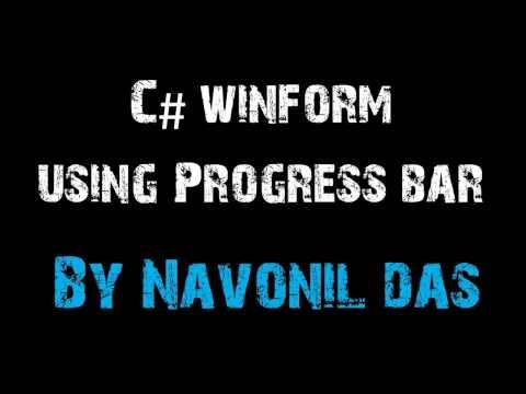 C# Winform Using Progress Bar