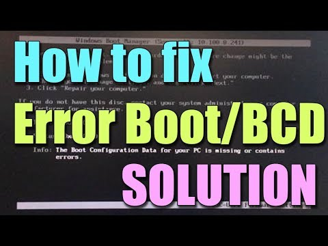 Fix BOOT\BCD Error in Windows 10/8/7 I SOLUTION 2018