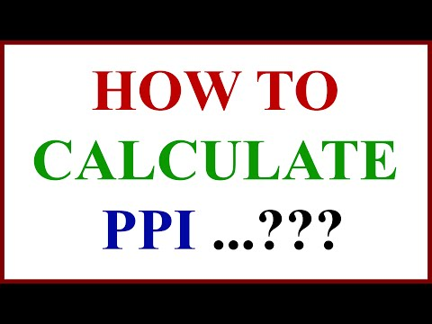 How to Calculate  PPI ...???