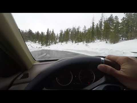 POV Car Driving In Bryce Canyon Utah In Winter Snow - Free Stock Footage