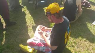 2016 Bacon Eating contest at strawberry Jam