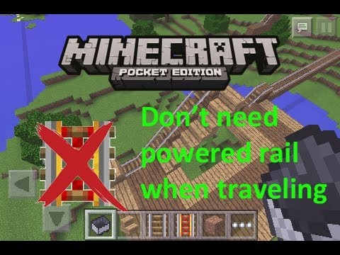 MCPE How to travel with minecart WITHOUT using powered rail (even faster)