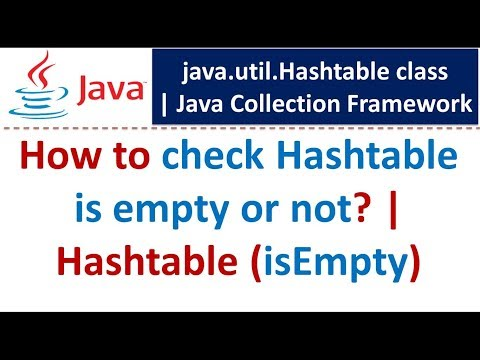 Java : Collection Framework : Hashtable (isEmpty)