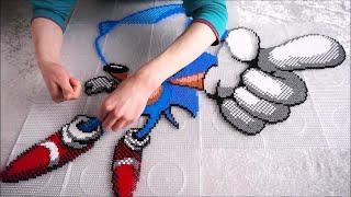 SONIC THE HEDGEHOG - Perler Beads Pixel Art (perleplader)