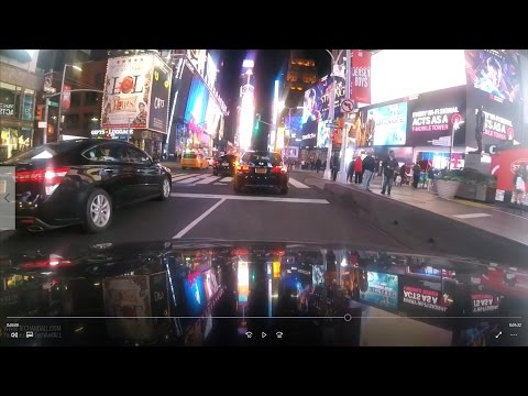Time Lapse Drive from Queens to Time Square Manhattan New York