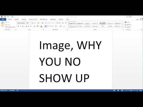 How To Fix Images Not Showing Up When You Paste It In Microsoft Word