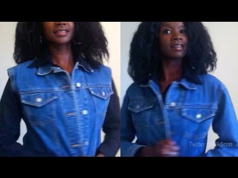 How to easily turn a jean jacket into a vest | Nik Scott