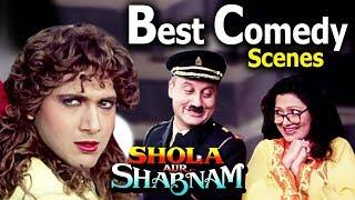 Best Comedy Scenes From Shola Aur Shabnam   Anupam Kher, Govinda, Bindu
