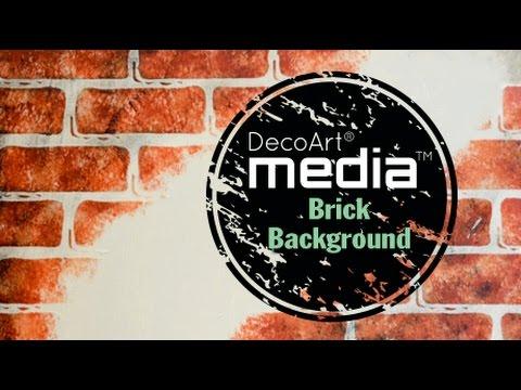 Create a Brick Wall Mixed Media Background
