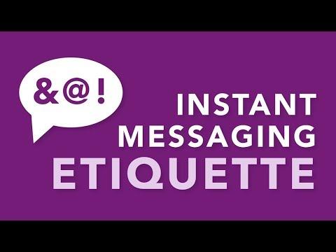 Instant Messaging Etiquette