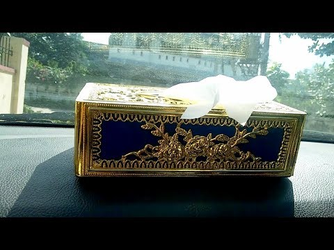 Beautiful Car Tissue Paper Box (Tissue Paper Dashboard Holder)