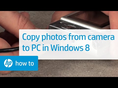 Copying Photos from a Camera to Your Computer (Windows 8)
