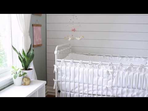 Bratt Decor Nursery Preview Featuring our Joy Baby Crib + Riley Crib Bedding