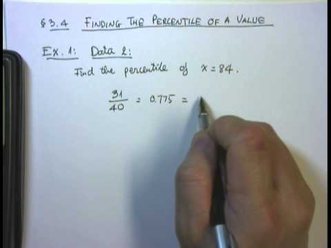 3 4   Finding The Percentile of A Value