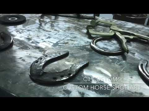 Custom horse shoe art projects! Check it out!