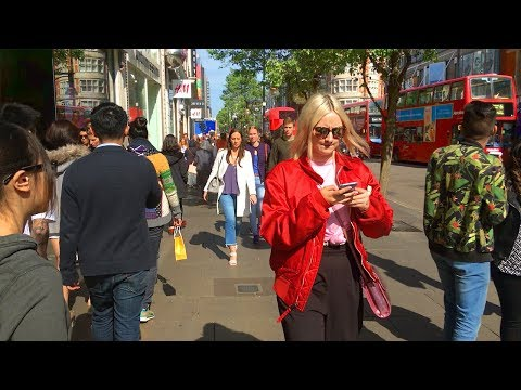 London Walk - OXFORD STREET from Marble Arch to Oxford Circus - England, UK
