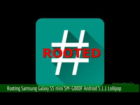 How to root Samsung Galaxy S5 mini SM-G800F Android 5.1.1 Lollipop