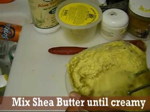 2 ♥ Making Your Own Shea Butter Pomade | Natural Homemade Recipes