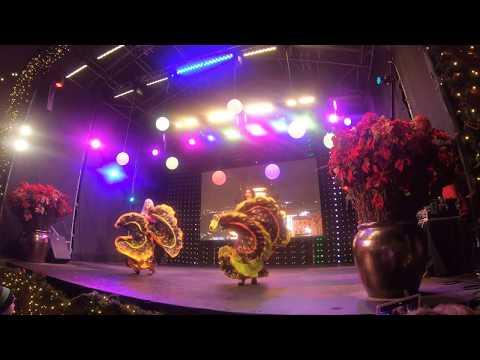 Dancing and Singing in Tallinn Christmas Market, Estonia 2018 (4K Quality)