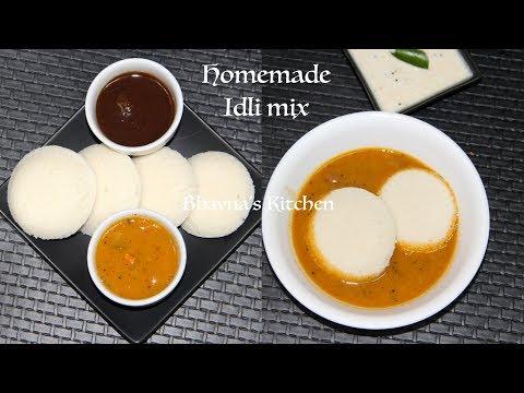 Homemade Idli Mix + Making of Soft Fluffy Idli Video Recipe | Bhavna's Kitchen