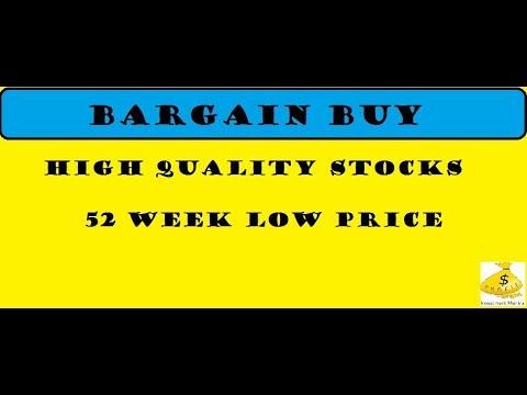 15 HIGH QUALITY STOCKs  @ 52 WEEK LOW || BARGAIN BUY