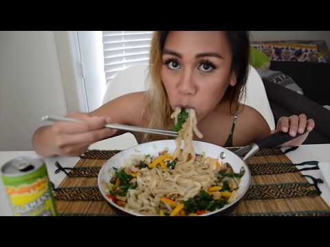 Shirataki Noodles 🍜 Mukbang Eating Sounds