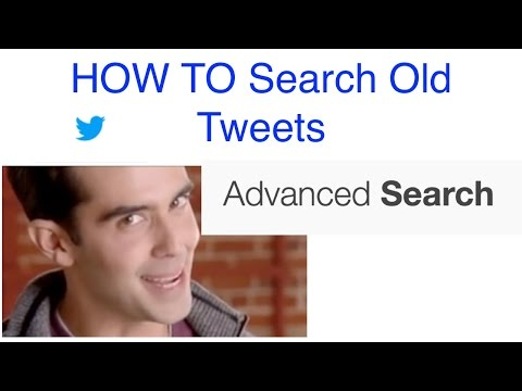HOW TO Search Old Tweets