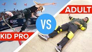 Kid Pro Skateboarder Vs. Amateur Adults