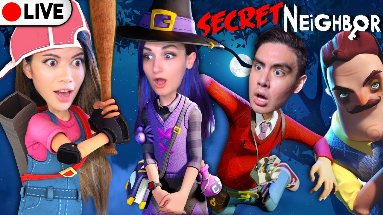 🔴LIVE Secret Neighbor: Kubz Scouts, LaurenzSide, Smajor, Joey Graceffa, Showthyme   Gloom
