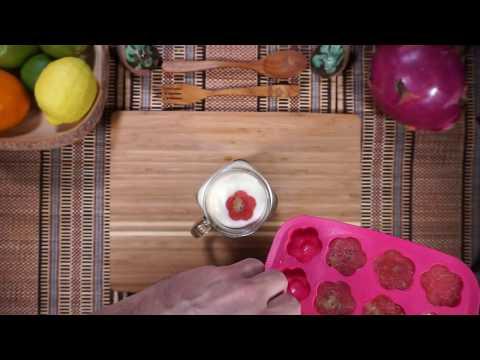 How to make Watermelon Kiwi Ice Cubes
