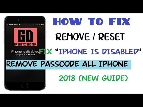Iphone is Disabled Connect to Tunes | How to unlock Any iPhones 6s,6+,5s,5c, All- 2018