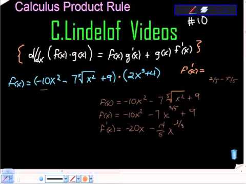 Calculus The Product Rule 10