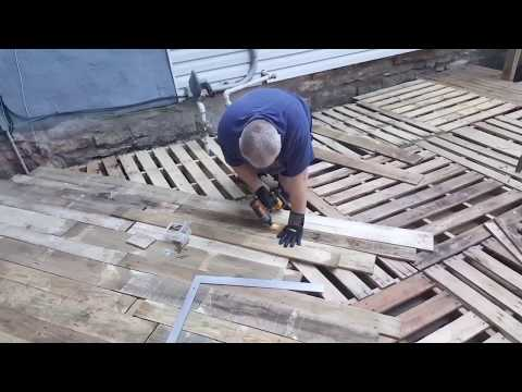 Journey of my 17ftx14ft Oak pallet deck
