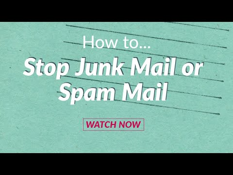How to stop junk mail or spam mail